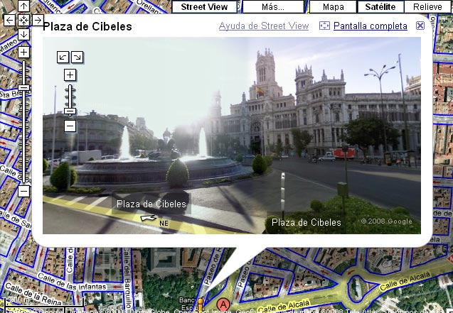 Google Street View Madrid