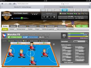 Manager Online de Fútbol Sala